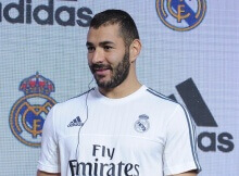 Mandatory Credit: Photo by Imaginechina/REX Shutterstock (4916133n)  Karim Benzema of Real Madrid  Real Madrid football team fan event, Shanghai, China - 29 Jul 2015
