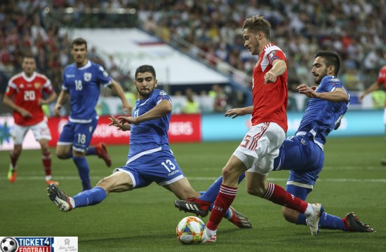 Euro 2020 qualifiers – Russia strikes Cyprus 5-0 to qualify for Euro Cup 2020