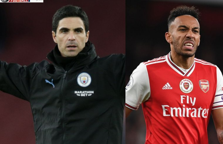 Pierre-Emerick Aubameyang's brother aims to dig at Mikel Arteta as Arsenal prepare to confirm a deal