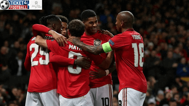 Premier League: Man Utd team celebration, Book Man Utd Tickets to enjoy its stunning performances.
