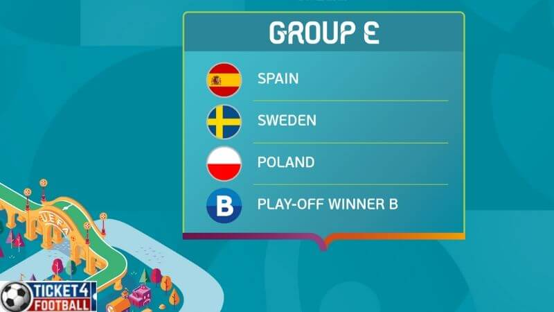 Euro 2020 - Group E & F will take place from 15 to 24 June 2020