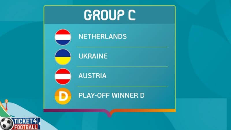 Group C - Austria will face Holland, Ukraine and the Play-off winner D or A